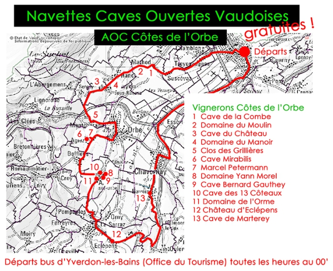 navettes 2018 cotes orbe